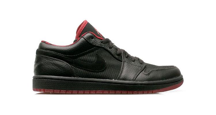 Air Jordan 1 Low Black/Metallic Silver- Varsity Red 2007 309192-001