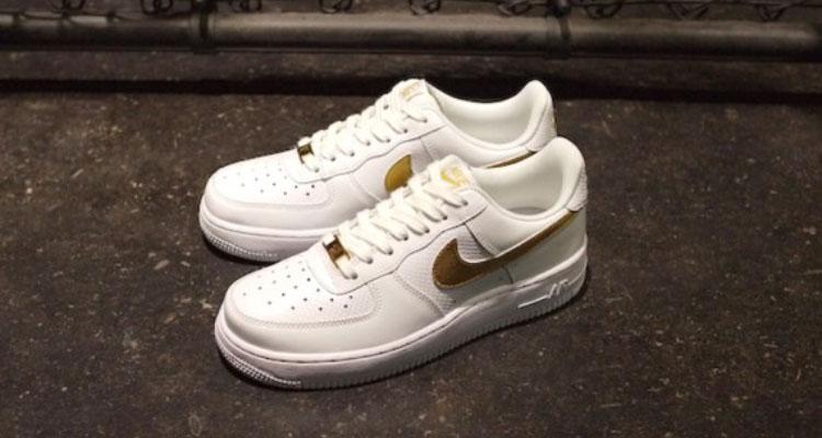 Nike Air Force 1 Low White/Metallic Gold