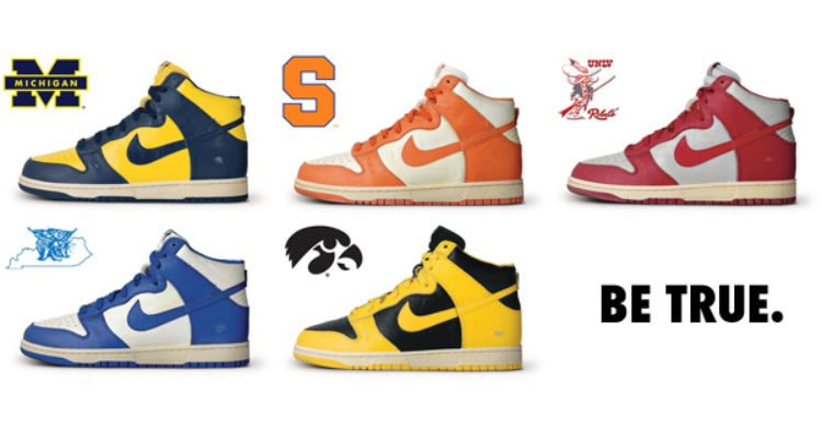 86 Nike Dunks Be True To Your School