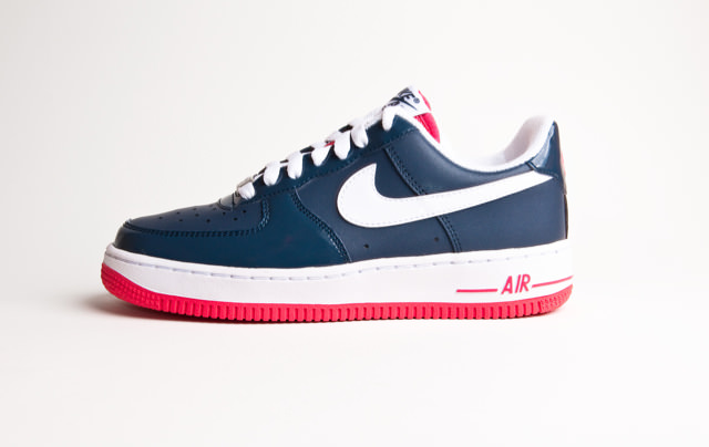 Nike Air Force 1 Navy Blue/White-Red