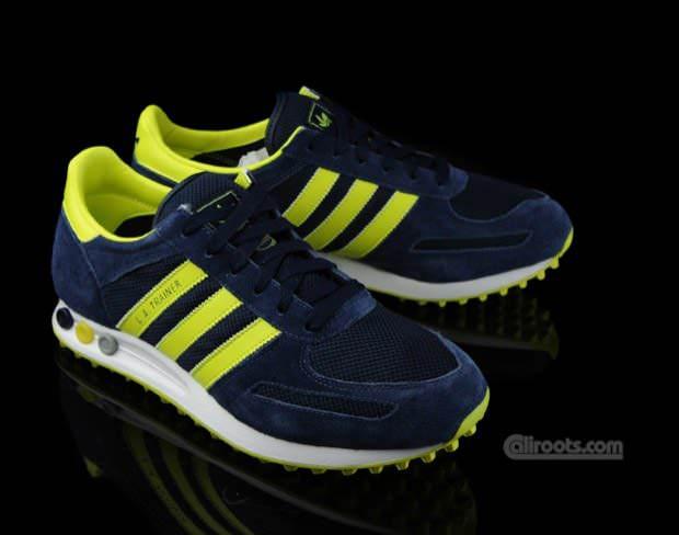 adidas Originals LA Trainer Navy/Yellow