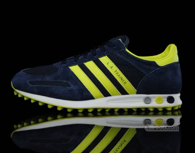 adidas gazelle trainers blue and yellow