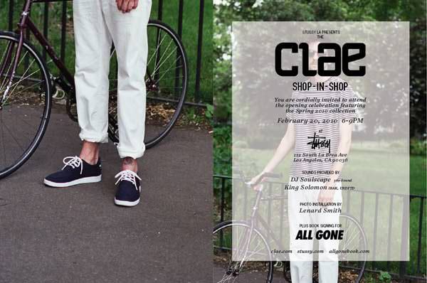 Clae Shop-In-Shop Event at Stussy LA