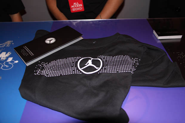 Free Jordan T-shirt Concierge gave out