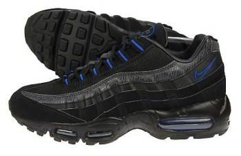Nike Air Max 95 Black Black Blue Nice Kicks