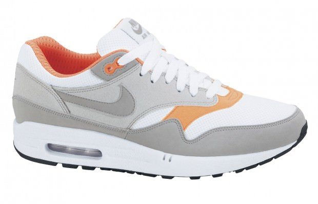 Nike Air Max 1 White/Grey-Orange   Nice Kicks