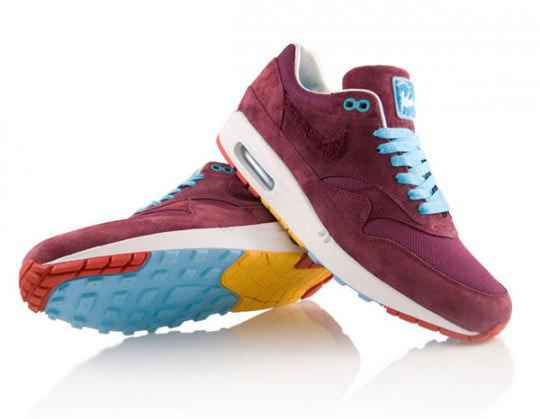 Parra x Nike Air Max 1 Burgundy Detailed Photos