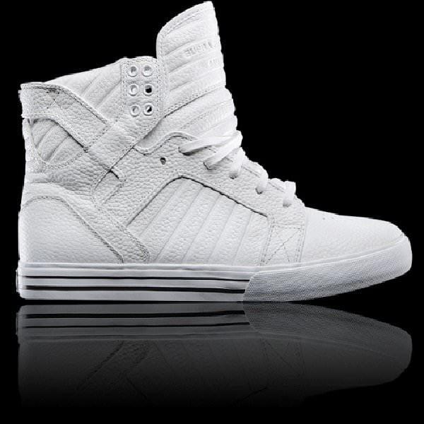 Supra Skytop - White Leather