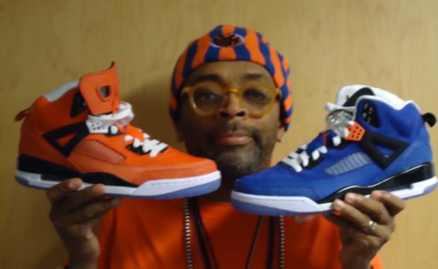 "Spike Lee Unveils New Jordan Spizike ""Knicks"" PEs"