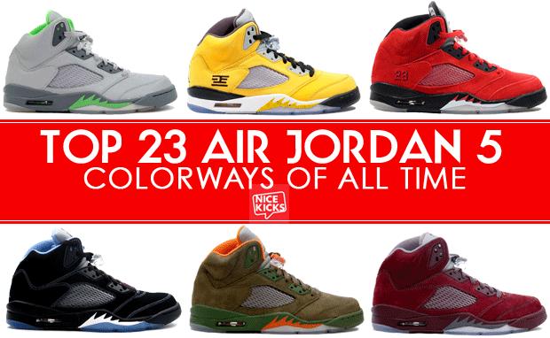 all the jordan 5s