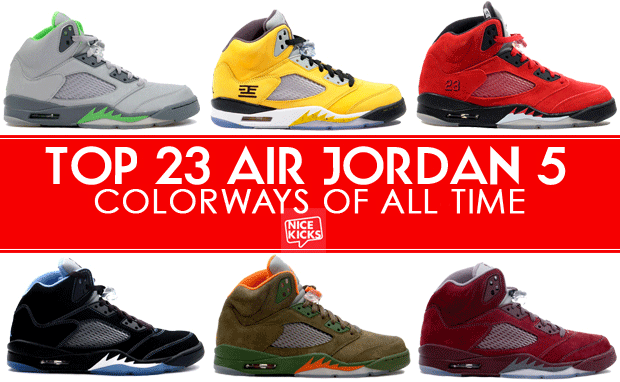 The 15 Best Air Jordan 5s of All-Time