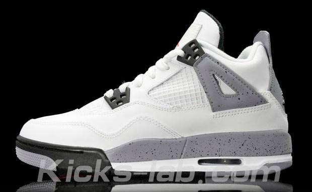 "Air Jordan 4 GS ""Cement"" Another Look"