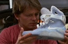 Marty McFly holding Nike MAG