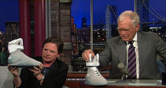 Michael J Fox appears on David Letterman for Nike MAG