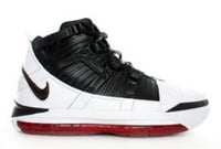Zoom Lebron 3 White Black Varsity Crimson