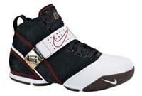 Zoom Lebron 5 Black White Varsity Crimson Black