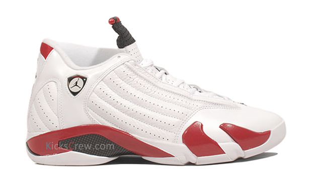 Air Jordan 14 White/Sport Red-Black