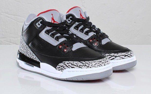 Air Jordan 3 GS Black/Cement | Nice Kicks