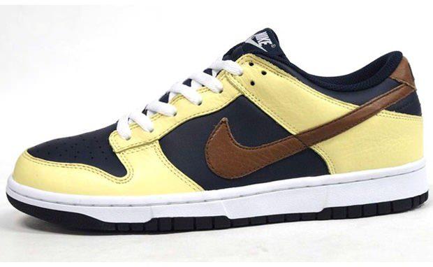 Nike Dunk Low Yellow/Navy-Brown