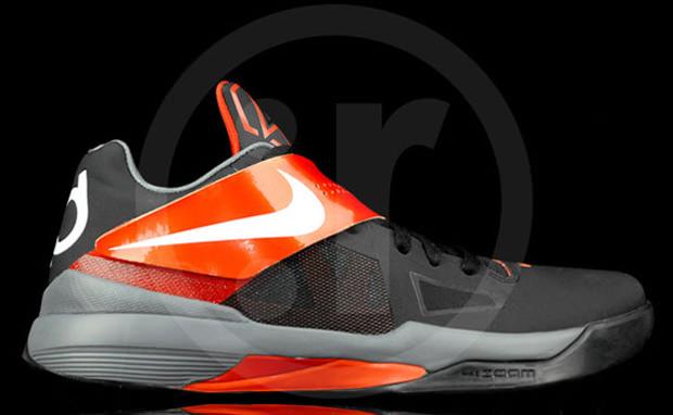Nike Zoom KD IV Black/Team Orange
