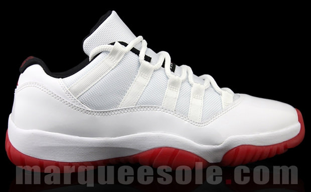 Air Jordan 11 Low GS White Red
