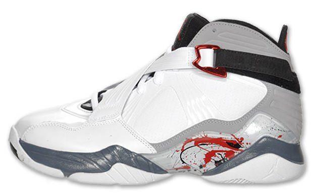Air Jordan 8.0 White/Varsity Red-Neutral Grey