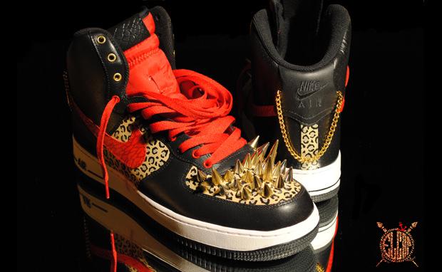 Nike Air Force 1 High Quot Vegas Nights Quot Custom Nice Kicks