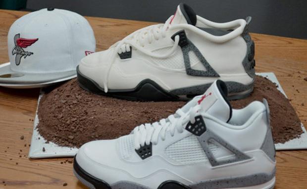 """Air Jordan 4 """"Cement"""" Cake"""