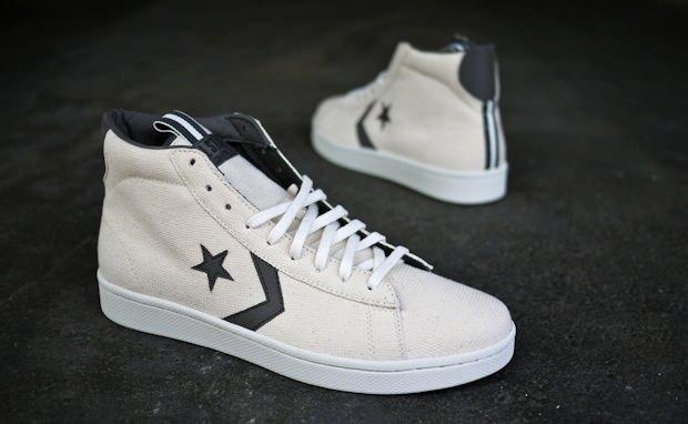 Converse Pro Leather Hi Canvas Cream Navy