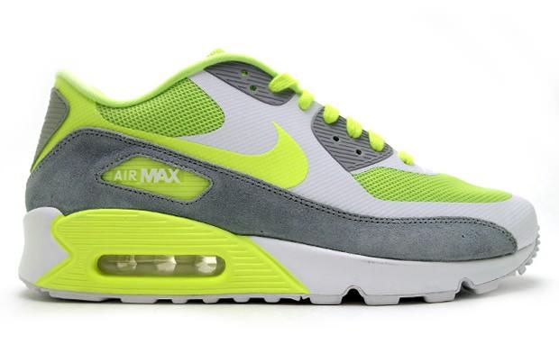 Nike Air Max 90 Premium Volt/Wolf Grey