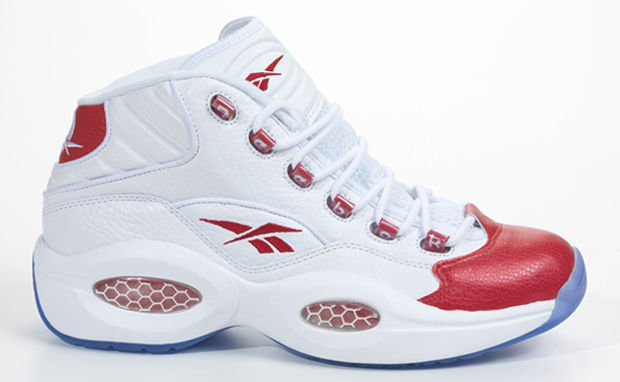 Reebok Question Mid White Red