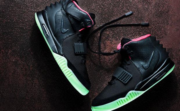 Nike Air Yeezy 2 Black/Solar Red