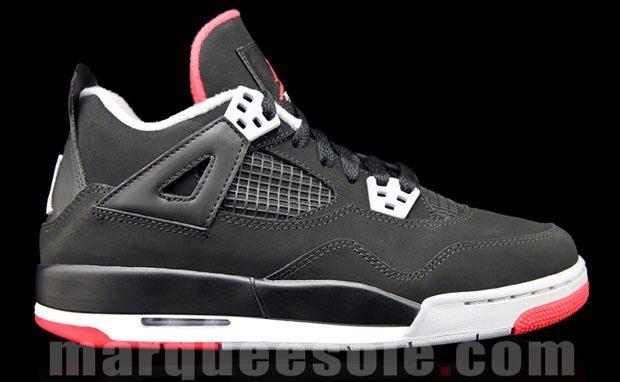 Air Jordan 4 GS Black/Cement Grey