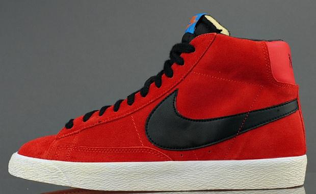 Nike Blazer Mid PRM Suede ?Challenge Red?