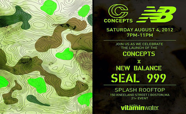 """Concepts x New Balance 999 """"Seal"""" Launch Party Info"""