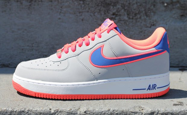 Nike Air Force 1 Low Wolf Grey/Game Royal-Hot Punch