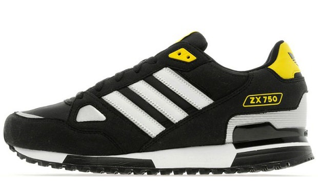 adidas ZX 750 Black/White-Metallic Silver