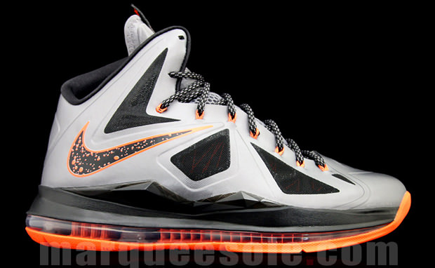 Nike LeBron X Silver Orange