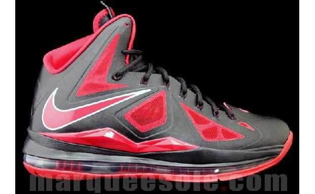 Nike LeBron X - Black/Red