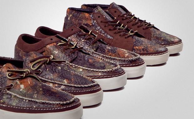 "Horween Leather x Vans Vault ""Brushed Camo"" Pack"