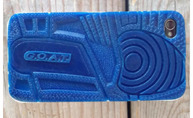 Air Jordan 3 ?True Blue? Inspired G.O.A.T iPhone Case