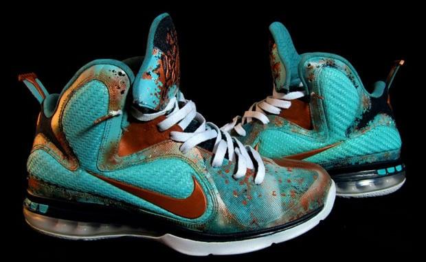 Nike LeBron 9 Copper Splash Custom