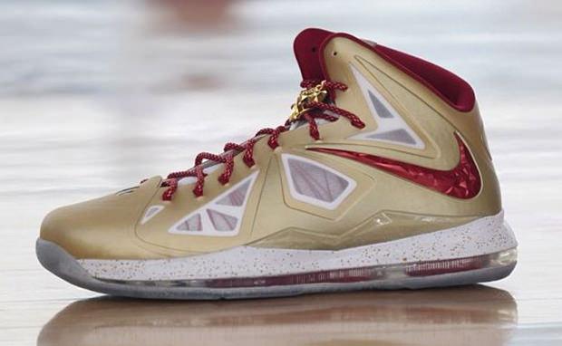Nike LeBron X Championship Gold