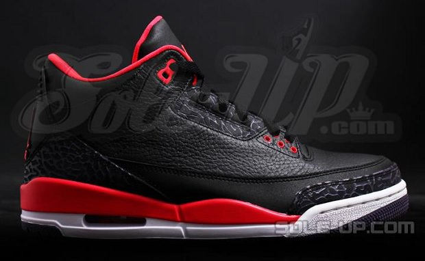 "Air Jordan 3 ""Bright Crimson"""