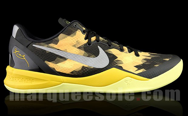 Nike Kobe VIII Black Yellow