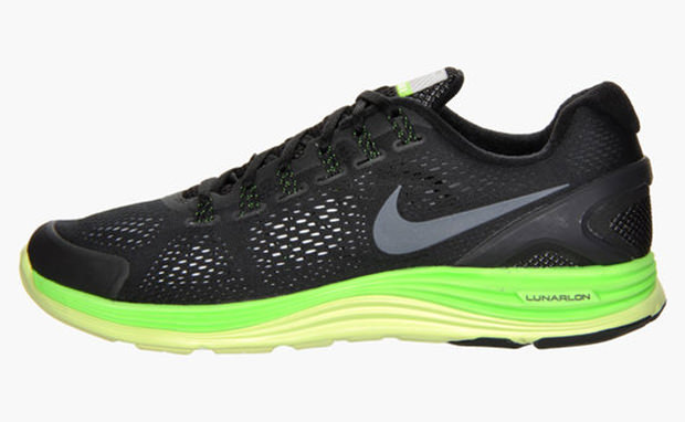 Nike LunarGlide 4+ Black Electric Green