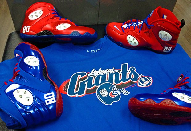 Nike Zoom Rookie Red Giants Custom for Victor Cruz