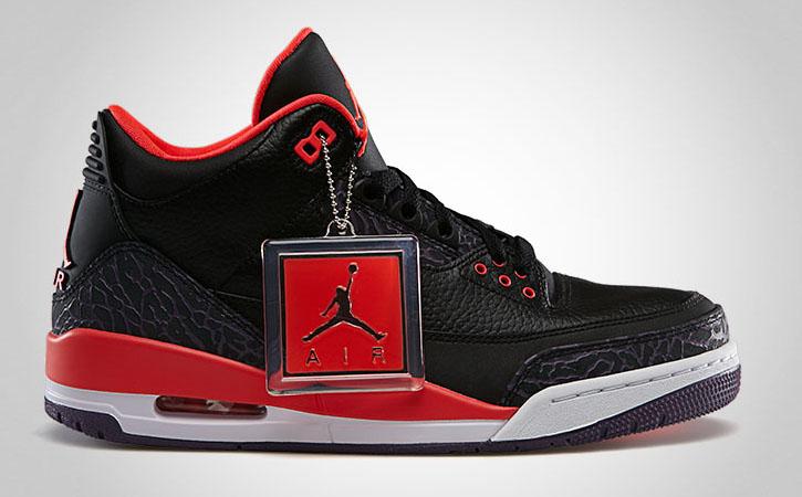 Air Jordan 3 Bright Crimson 136064-005