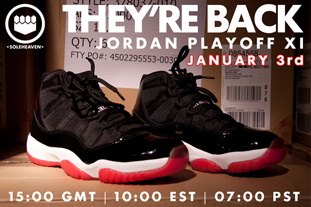Air Jordan 11 Playoff Restock at Sole Heaven
