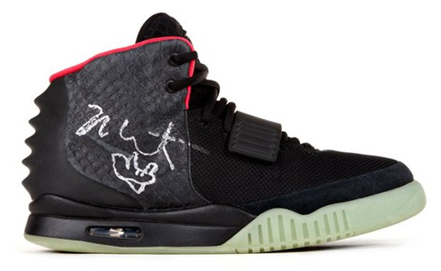Nike Air Yeezy 2 Signed by Kanye West Up for Auction